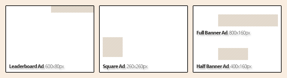 Advertisement Sizes for the Diverse Edmonton Magazine, Online Edition