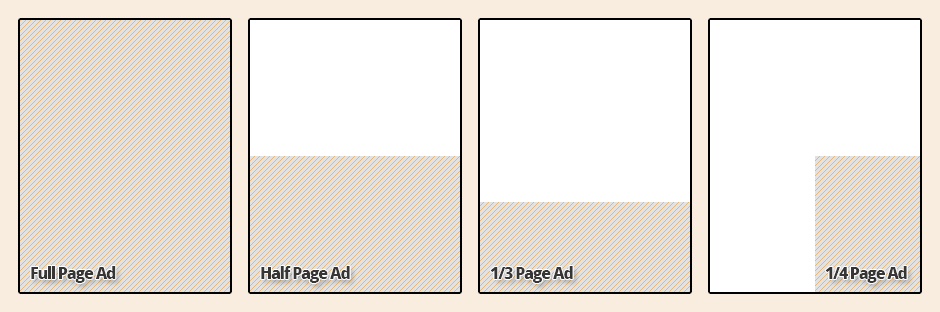 Advertisement Sizes for the Diverse Edmonton Magazine, Print Edition