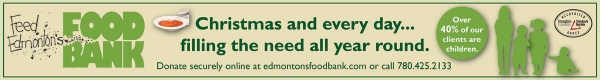 Edmonton's Food Bank serves more than 13,000 individuals a month. Over 40% of those are children.